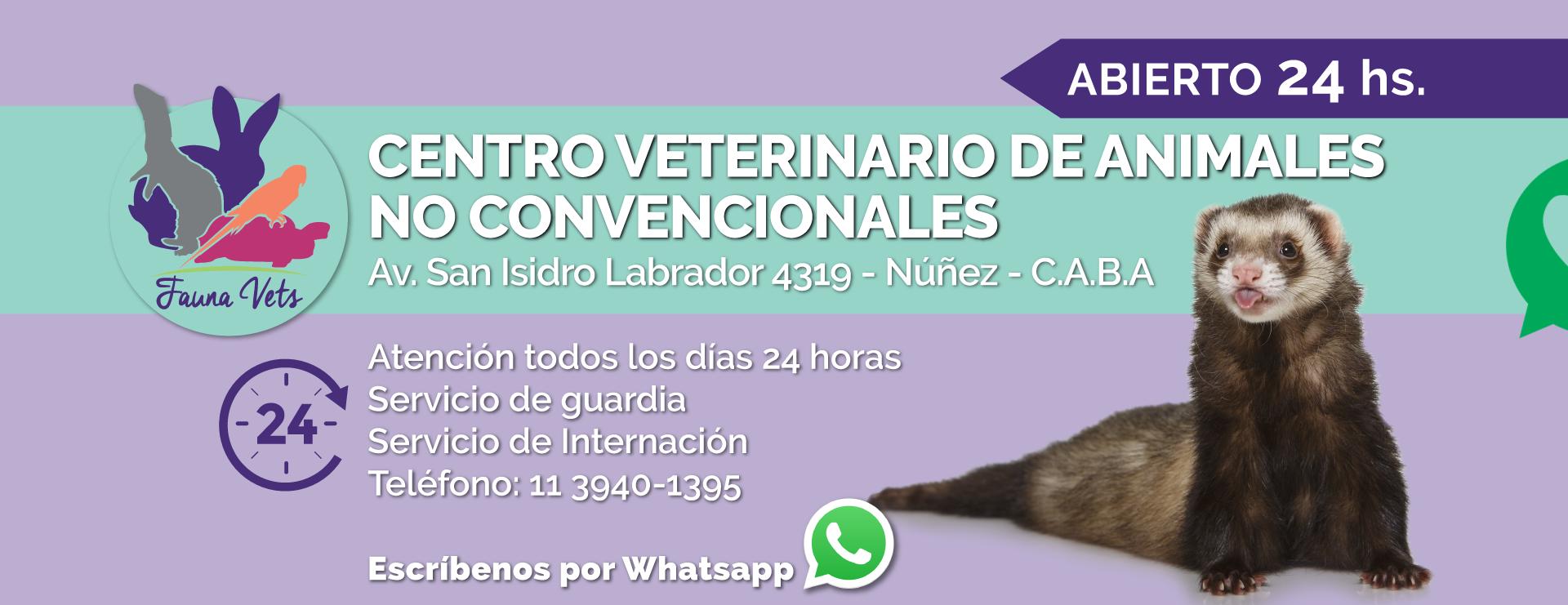 fauna vets - centro especializado en animales exoticos y no convencionales - fernando pedrosa - camila lascano - nicolas cohen